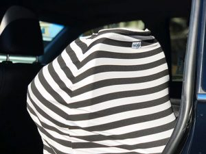 Motmot Soft and Stretchy Nursing and Breastfeeding Privacy Cover Protects your Baby - black and white car seat canopy