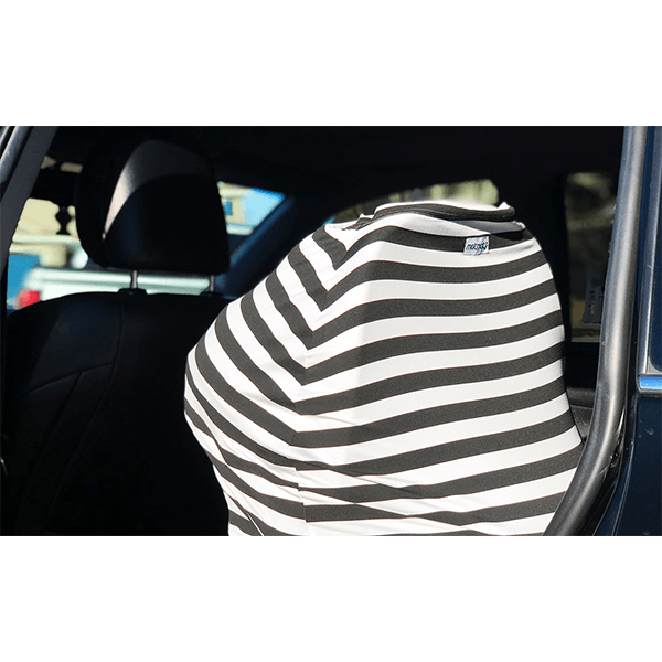 Motmot Soft and Stretchy Nursing and Breastfeeding Privacy Cover Protects your Baby - black and white car seat canopy cover