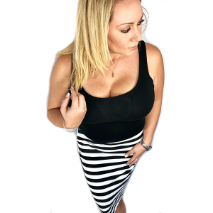 Motmot Soft and Stretchy Nursing and Breastfeeding Privacy Cover Protects your Baby - Black and White Stripe as skirt