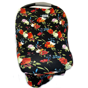 Motmot Soft and Stretchy Nursing and Breastfeeding Privacy Cover Protects your Baby - tropical floral design car seat canopy cover